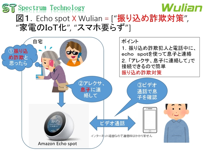 Echo spot X Wulian