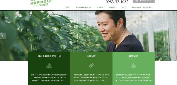 ウェブサイト「新富アグリスタイル」。
